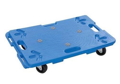 Silverline Vorm-aansluitende plastic platform trolley 100kg