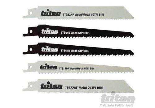 Triton 5-delige reciprozaagblad set 150 mm