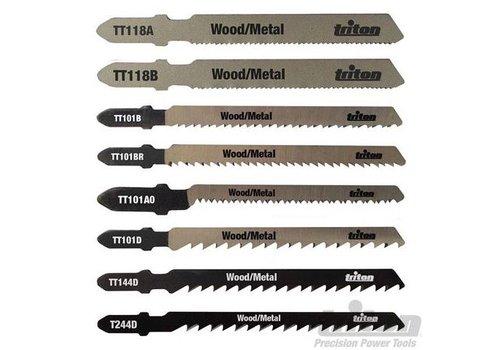 Triton 10-delige decoupeerzaagbladen set Hout/metaal