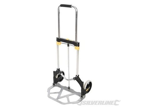 Silverline Aluminium opvouwbare hand steekwagen 90 kg