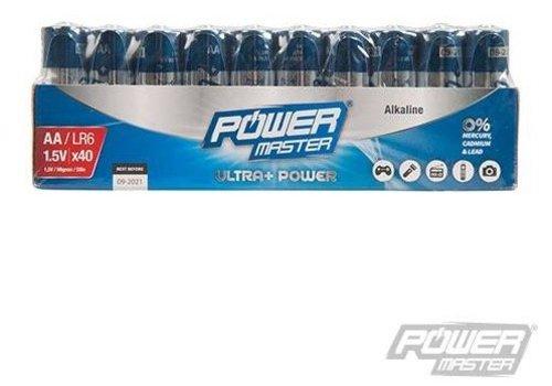 PowerMaster AA super alkaline batterij LR6, 40 pk.
