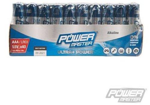 PowerMaster AAA super alkaline batterij LR3, 40 pk.