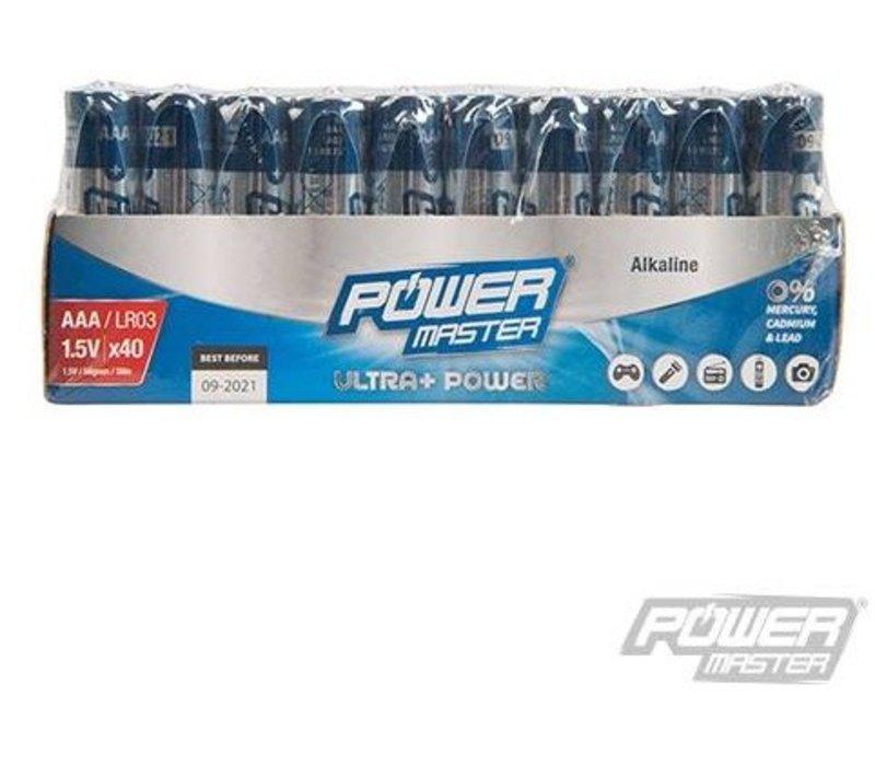 AAA super alkaline batterij LR3, 40 pk.