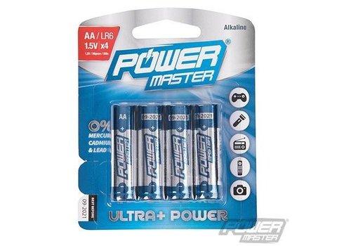 PowerMaster AA super alkaline batterij LR6, 4 pk.