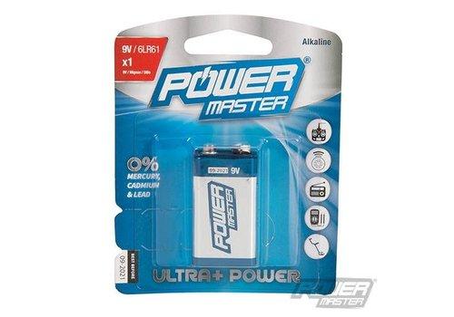 PowerMaster 9 V super alkaline batterij 6LR1