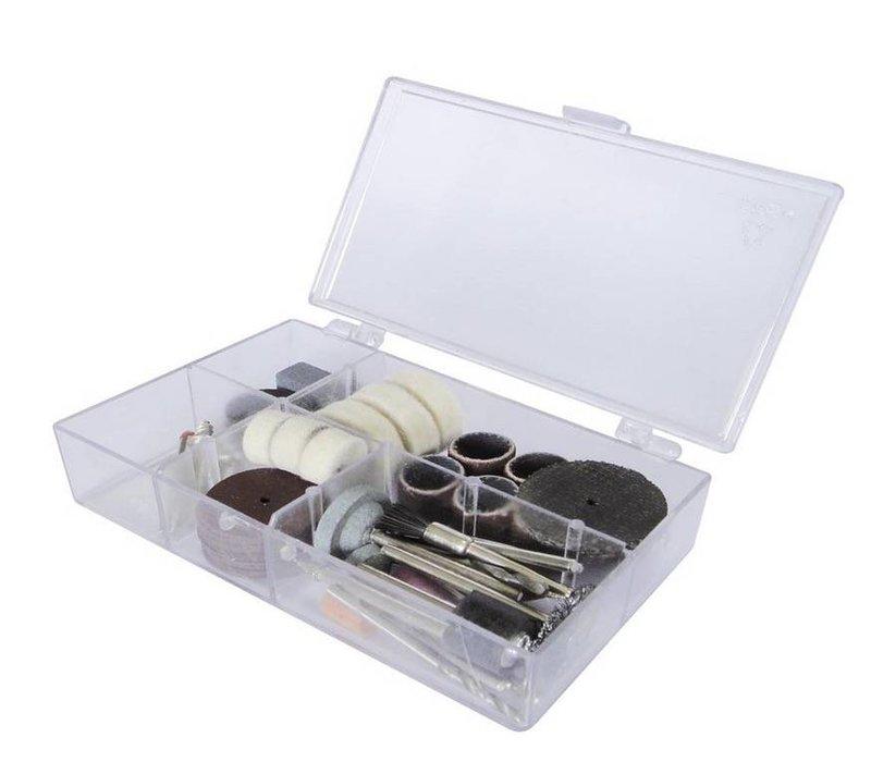 Gereedschapset 64-delig in plastic doos