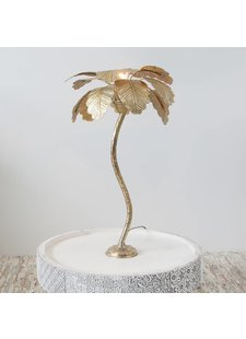 Zenza Lámpara de mesa palma - oro - Ø40x65cm - Zenza