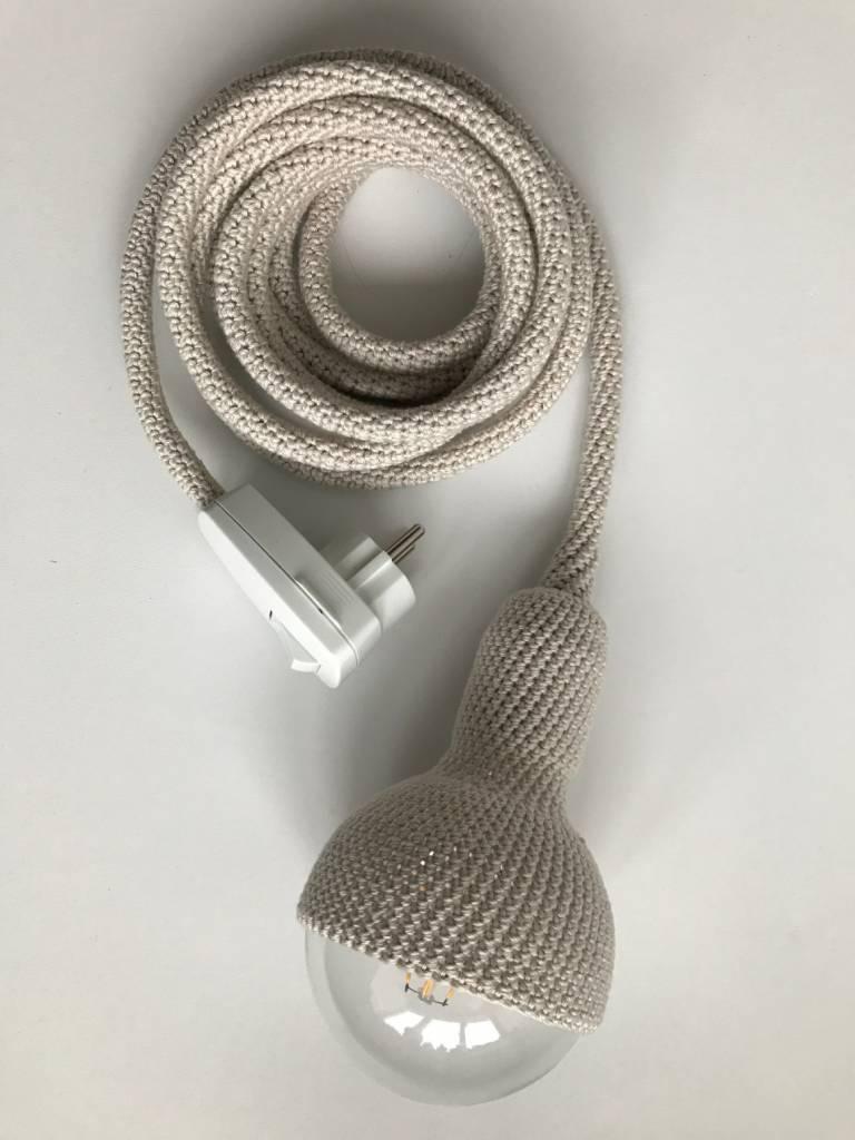 Et Aussi... Crocheted pendant lamp - Pearl Grey - Et aussi