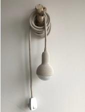 Crocheted pendant lamp - Pearl Grey - Et aussi