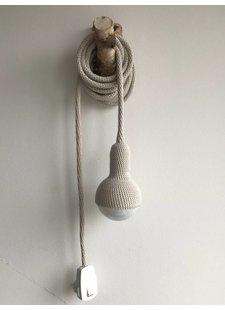Lampe baladeuse crochet - gris perle - Et aussi