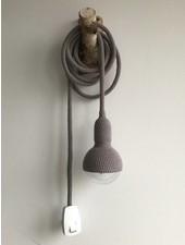 Et Aussi... Lampe baladeuse crochet - gris foncé- Et aussi