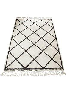 Snowdrops Copenhagen Berber style rug 'Oslo' - white & black - 170x240cm