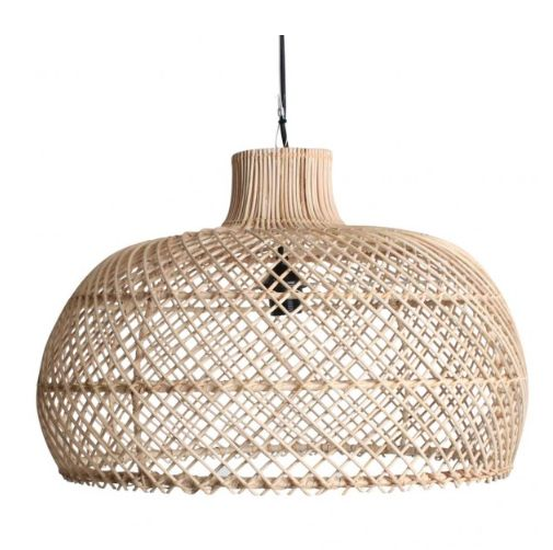 Oneworld Interiors Suspension en rotin - naturel - Ø56cm