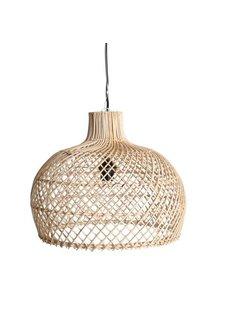 Oneworld Interiors Lámpara de suspensión de ratán - natural - Ø39cm