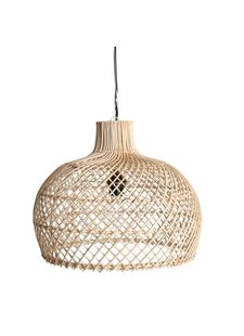Oneworld Interiors Suspension en rotin - naturel - Ø39cm