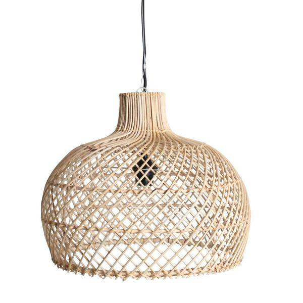 Oneworld Interiors Rattan pendant lamp - naturel - Ø39cm
