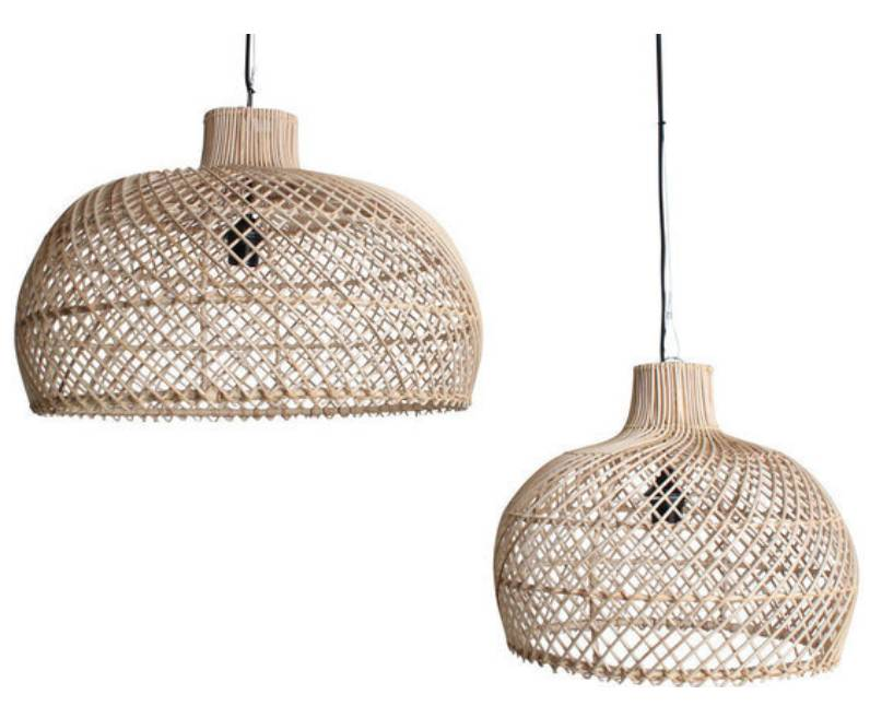 Oneworld Interiors Rattan pendant lamp - naturel - Ø39cm