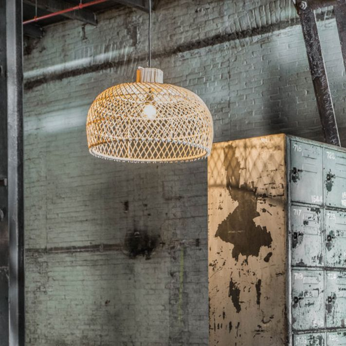 Oneworld Interiors Rattan pendant lamp - naturel - Ø56cm