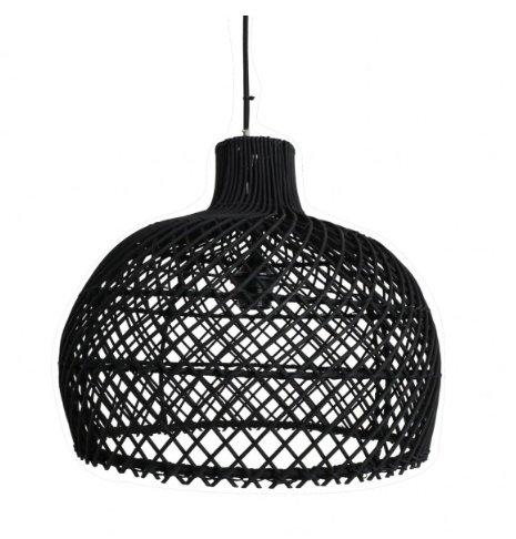 Oneworld Interiors Rattan pendant lamp - black - Ø39cm