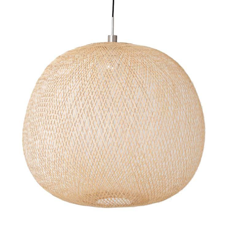 Ay Illuminate Lampe Suspension Bambou PLUME mini - Naturel - Ø38xh31cm - Ay illuminate