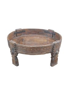 Evenaar Wooden coffee table INDIA - Ø70xh23cm - Unique item