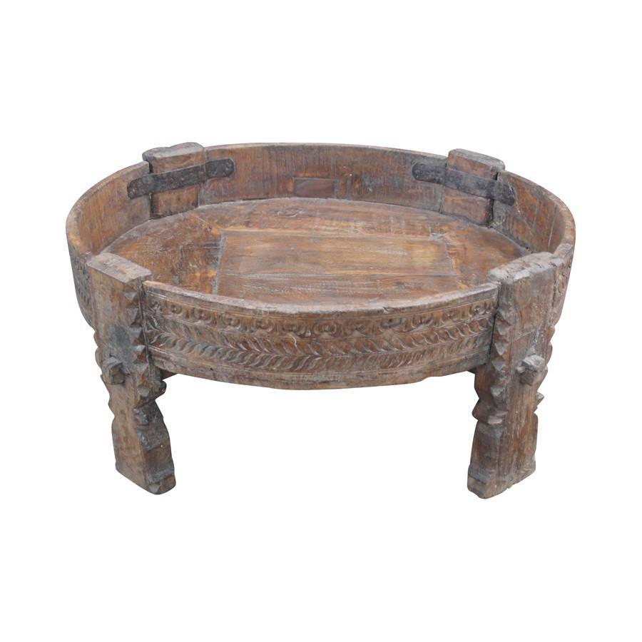 Evenaar Table basse ethnique INDIA - Ø70xh23cm - Pièce unique