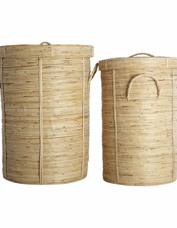 House Doctor Set de 2 paniers à linge 'chaka' en bamboo et rotin - House doctor