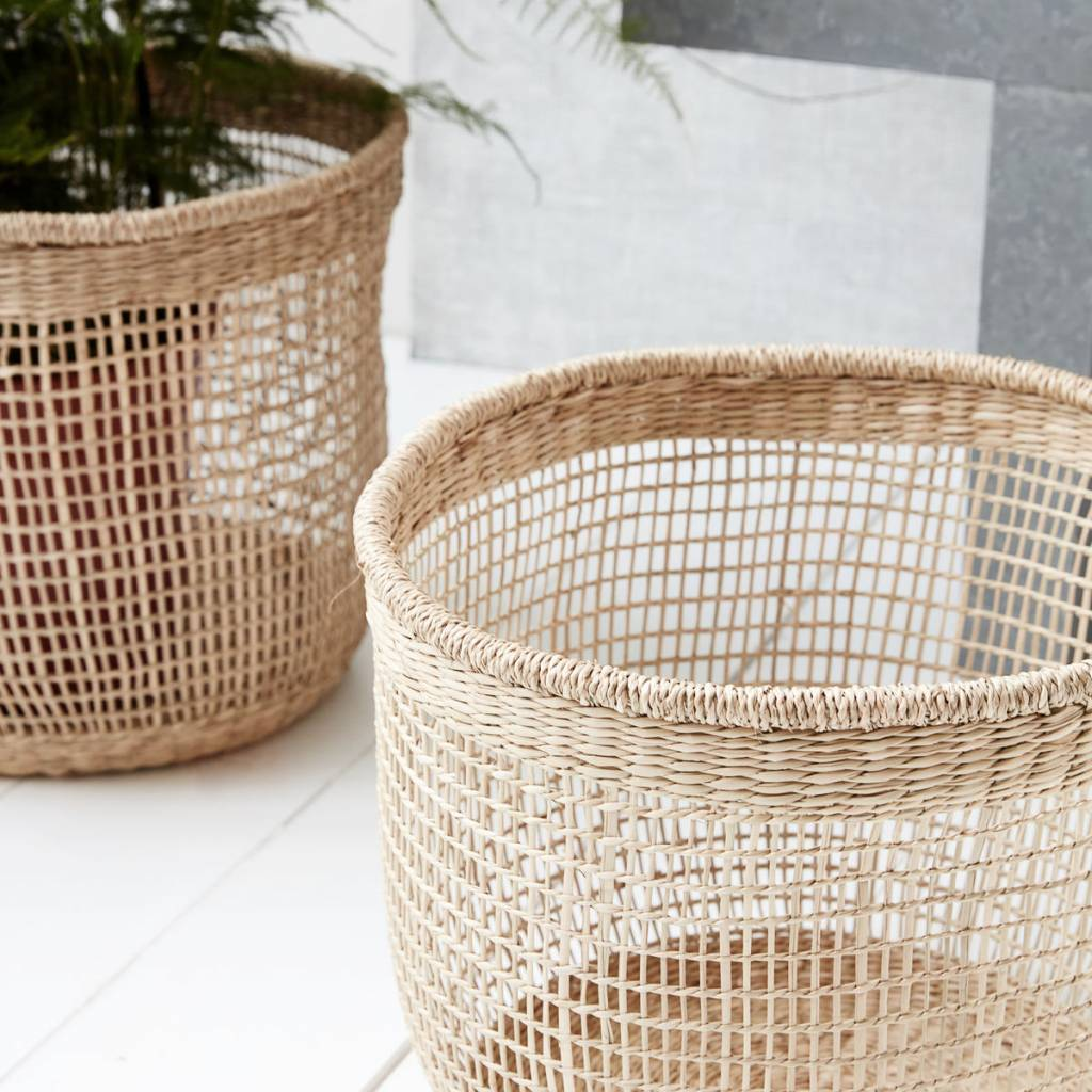 House Doctor Set of 3 natural baskets - House Doctor
