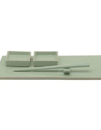 Bloomingville Set de sushi en piedra arenisca - 6 piezas - Verde - Bloomingville