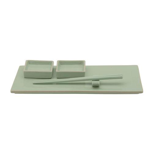 Bloomingville Sushi Set, Stoneware - 6 Pieces - Green - Bloomingville