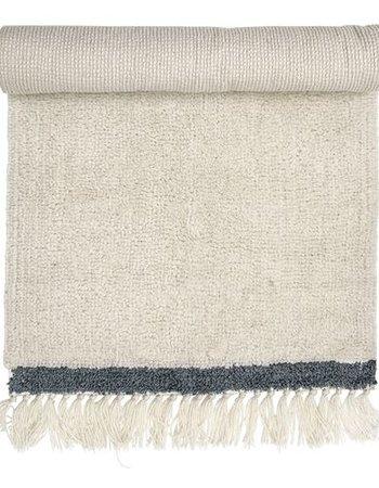 Bloomingville Tapis en laine - Blanc / Nature - L120x60cm - Bloomingville