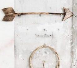 MaduMadu Colgadura de madera teca - Flecha-50cmx10cm - MaduMadu
