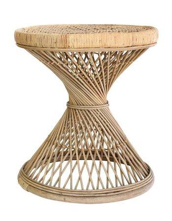 Rattan peacock side table - 55xh61cm - HK Living