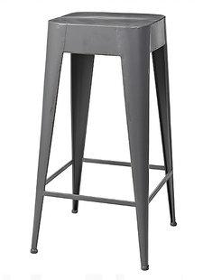 Broste Copenhagen Tabouret 'Daryll' - h65cm - métal gris foncé - Broste Copenhagen