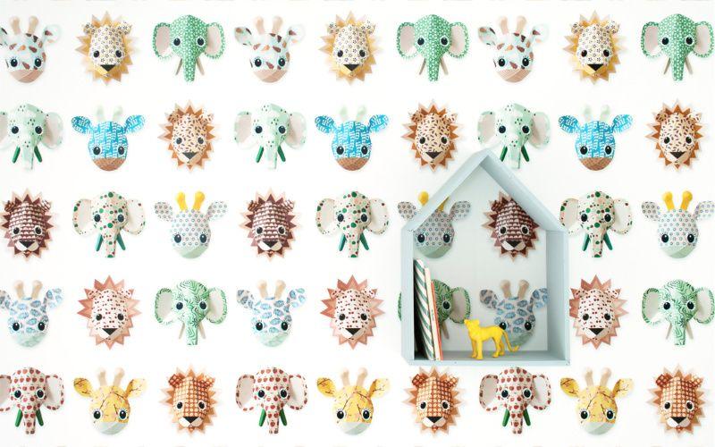 Studio Ditte Papier Peint Zoo Studio Ditte - roze