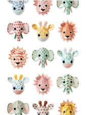 Studio Ditte Papier Peint Zoo Studio Ditte- roze