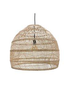 HK Living Lampe Suspension en osier - Ø60xh50cm - HK Living