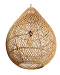 Oneworld Interiors Rattan pendant lamp - naturel - Ø45xh65cm