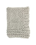 Bloomingville Chunky knit plaid - Gray - 150x120cm - Bloomingville