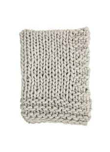 Bloomingville Manta de lana gruesa tamaño XL - Gris - 150x120cm - Bloomingville