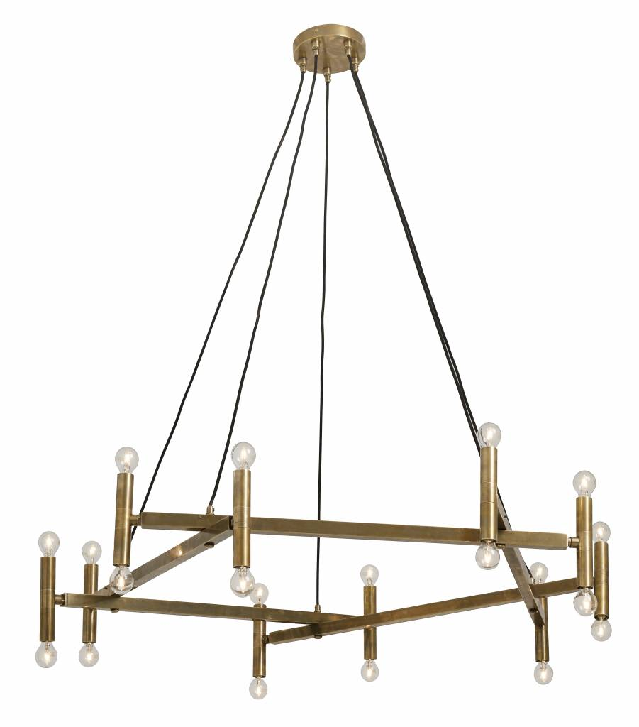 Nordal Chandelier, brass / 20 lights - 142xh120 - Nordal