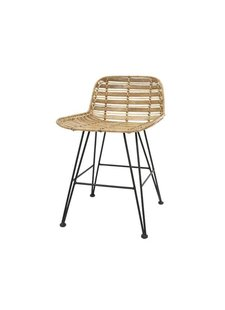 HK Living Rattan stool natural - hokaido - h65cm - HK Living