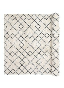 Broste Copenhagen Scandinavian-Ethnic rug 'Janson' - Ivory & black - 140x200cm
