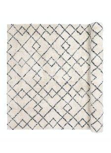 Broste Copenhagen Tapis Scandinave Ethnique 'Janson' - Ivoire y noir - 140x200cm