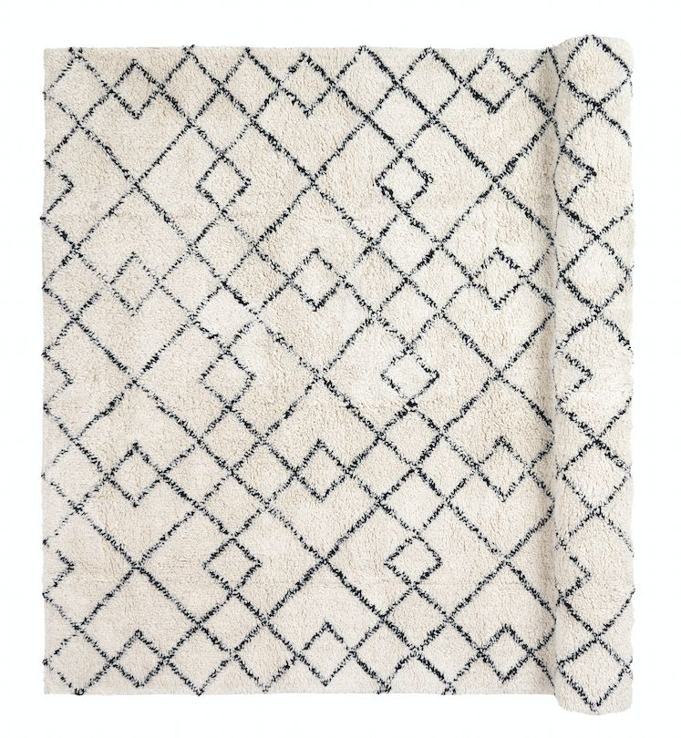 Broste Copenhagen Scandinavian-Ethnic rug 'Janson' - Ivory & black - 140x200 - Broste Copenhagen