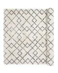 Broste Copenhagen Tapis Scandinave Ethnique 'Janson' - Ivoire y noir - 200x300cm