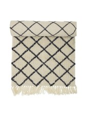 Bloomingville Berber style rug - creme / black - 70x200cm - Bloomingville