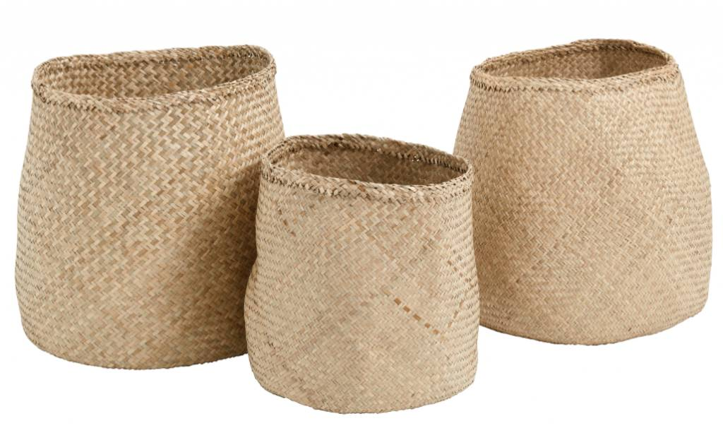 Nordal Set of Seagrass baskets - natural - Nordal