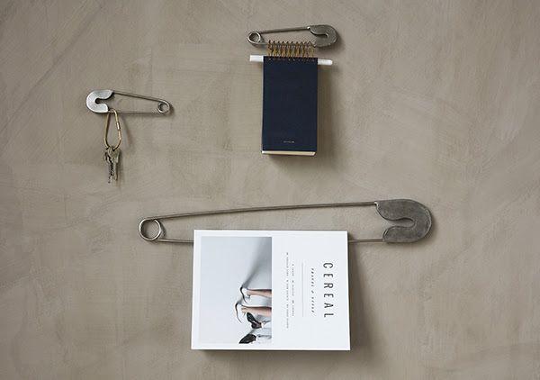 Monograph silver safety pin - 15cm - Monograph