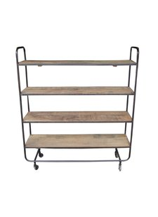 Evenaar Industrial shelving/rack in metal and wood - h115cm - Evenaar